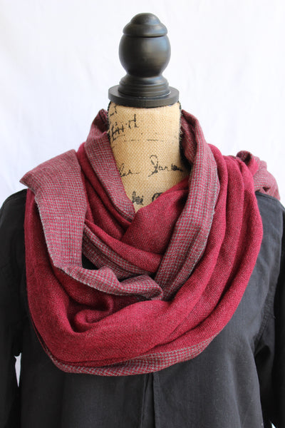 100% Cashmere Scarf-Red