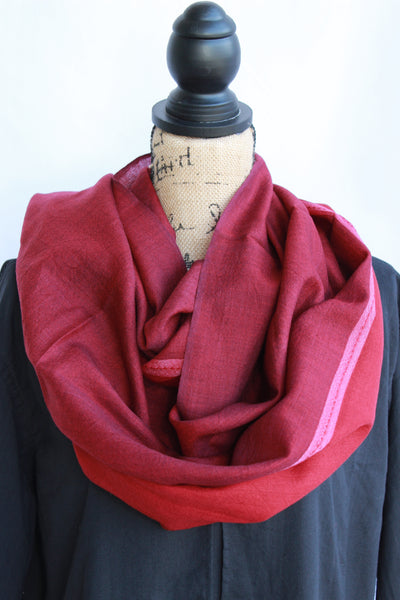 Kasmiri Scarf-Soft Red
