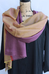 Kasmiri Scarf-Dusty Pink and Orange