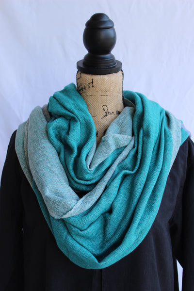 100% Cashmere Scarf-Teal