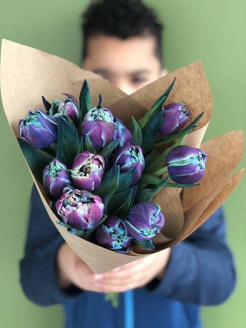 Blue Tulip Bouquet