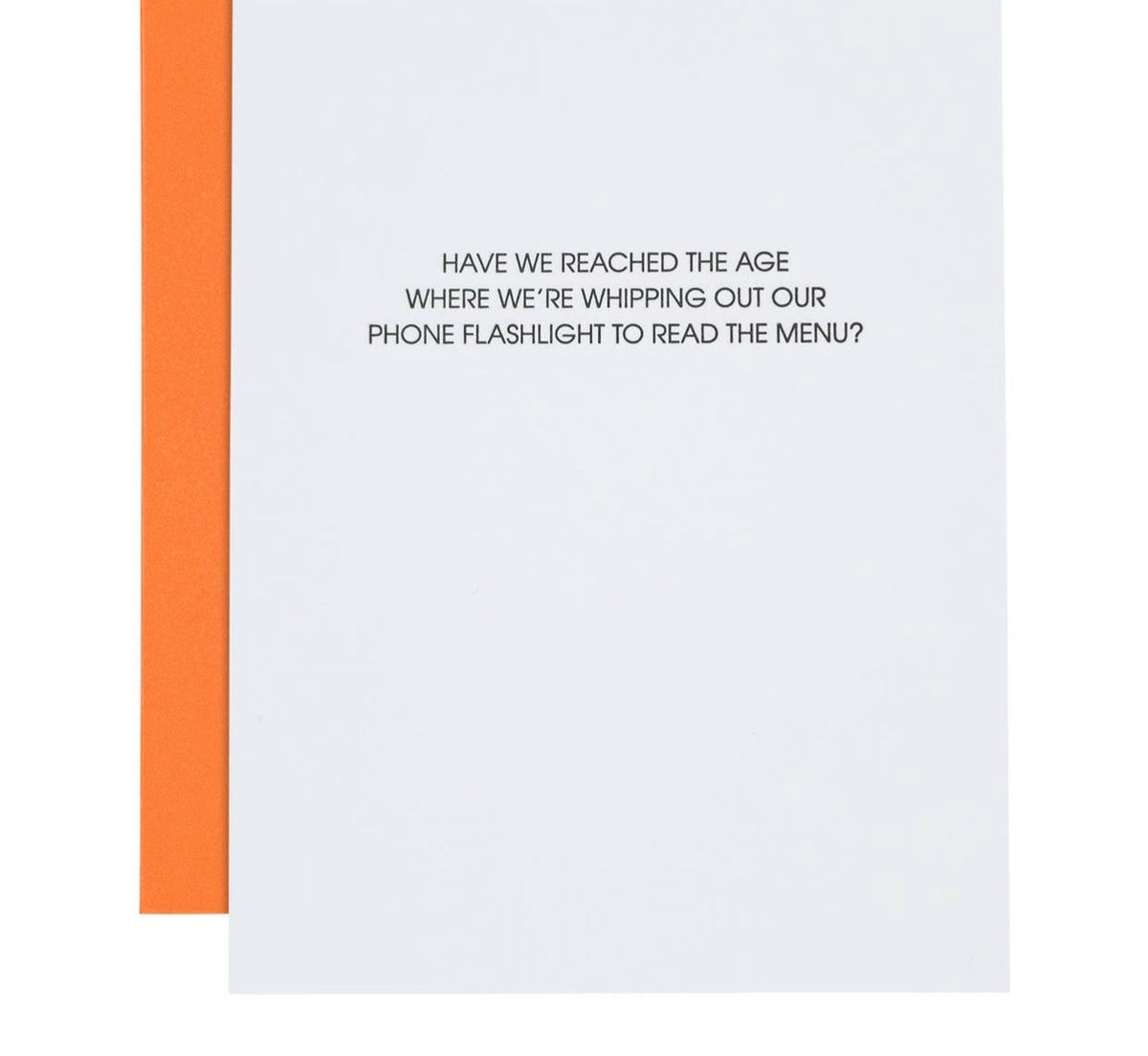 Phone Flashlight Funny Birthday Card