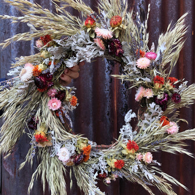 LIVE In Person Floral Design Workshop - OCTOBER: TROVE Dried Wreath Edition