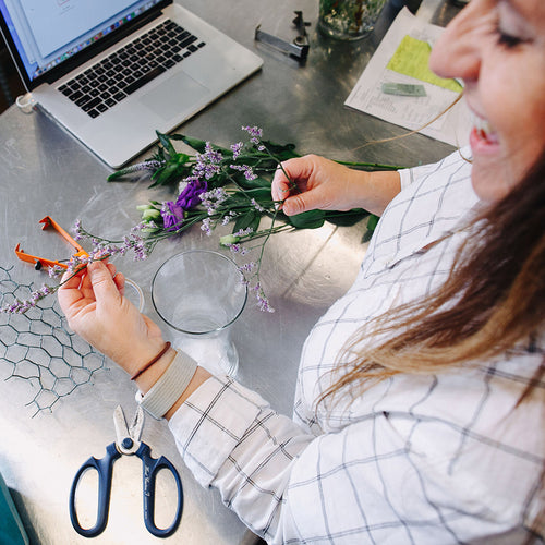 LIVE Virtual Floral Design Workshop - BYOF (Bring Your Own Flowers)