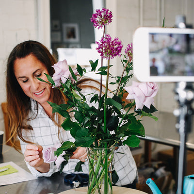 LIVE In Person Floral Design Workshop - MAY: TROVE Spring Wreath Edition