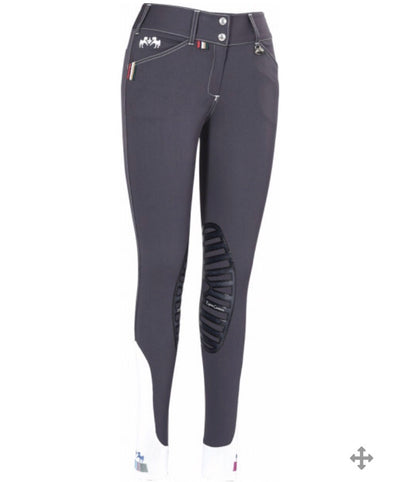 Equine Couture Ladies Brinley Silicone Knee Patch Breeches - 110647
