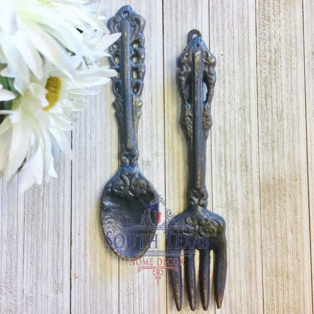 South Texas Home Decor Spoon And Fork Wall Art Coffee