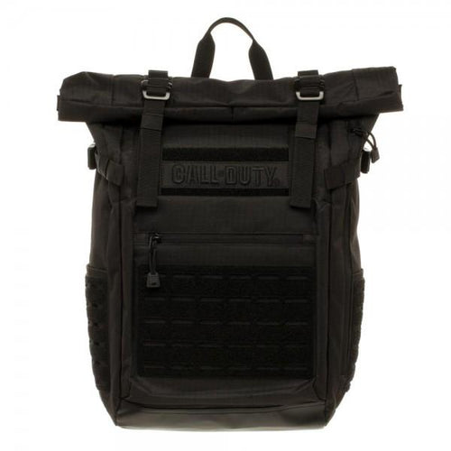 Call of Duty Black Military Roll Top Backpack with Laser Cut