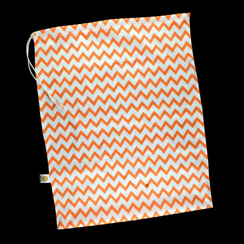 Sac de transport style poche - Chevrons oranges