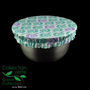 Kaskabol Bowl covers - Apples - Green and violet