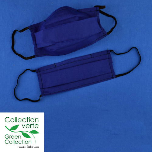 Face covering - Small elastics - Royal blue