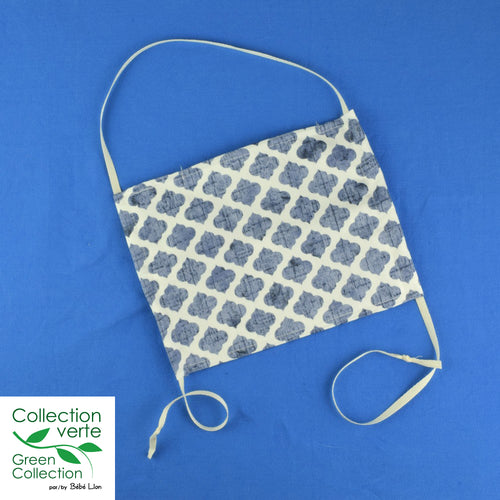 Face covering - String system - Blue Moroccan