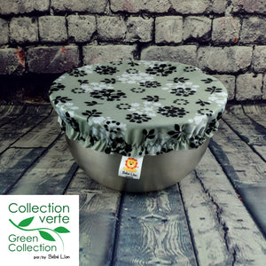 Kaskabol Bowl covers - Black and white flowers