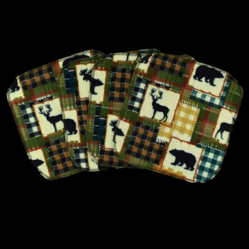 One-ply flannel wipe - Bears and Deer