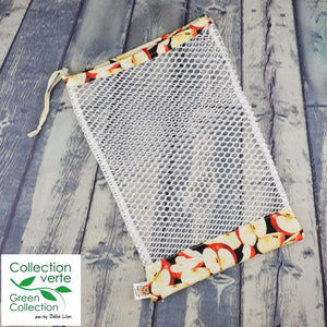 Fruit and vegetable bags - Cut apples print
