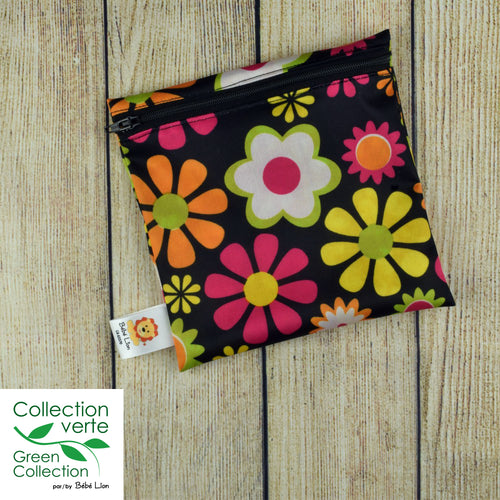 Lunch - snack bag - Hippie flowers