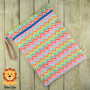Wet bag  Multicolored zigzags