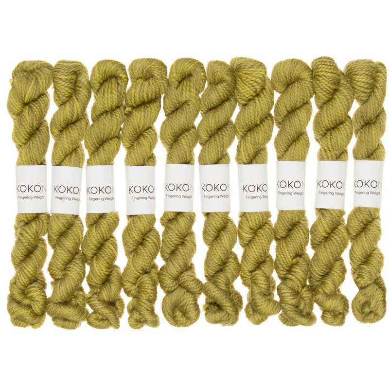 KOKON - Fingering Weight Merino Mini Skein - Cress