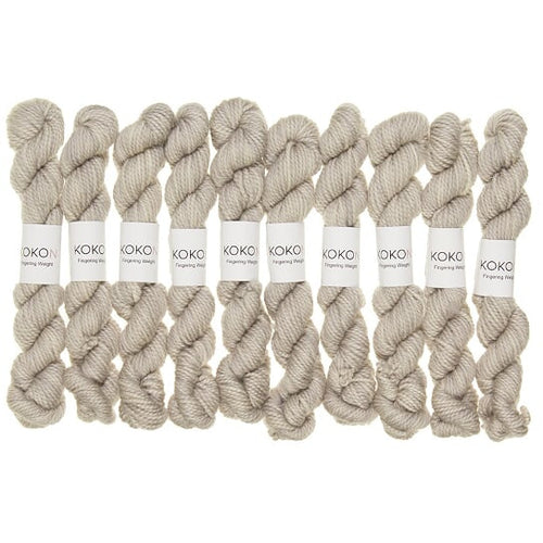 KOKON - Fingering Weight Merino Mini Skein - Moon