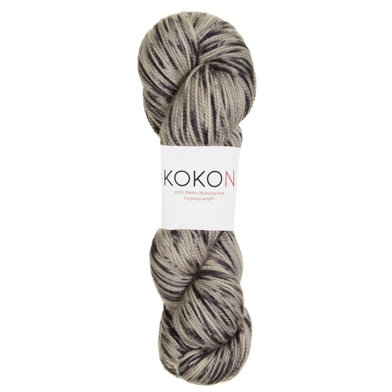 KOKON - Fingering Weight Merino - Black Speckle