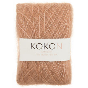 Crystalline Shawl Yarn Kit - Large - Kokon Merino Linen  - Rust and Kokon Kidsilk Mohair - Copper