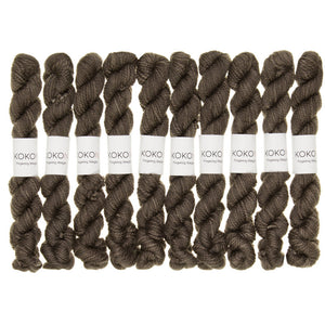 KOKON - Fingering Weight Merino Mini Skein - Smoke