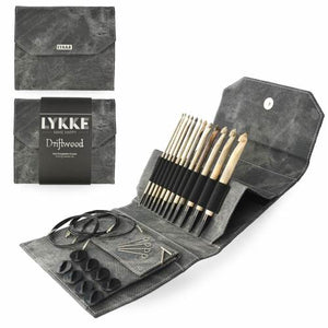 "Lykke Driftwood 6"" Interchangable Crochet Hook Set"