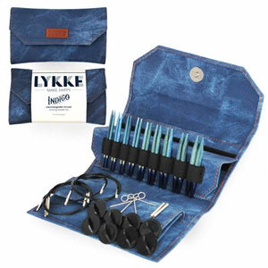 "Lykke Driftwood 3.5"" Interchangeable Circular Knitting Needle Set - Indigo Denim Effect"