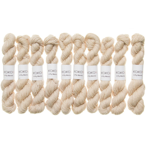 KOKON - Fingering Weight Merino Mini Skein - Stone