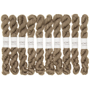 KOKON - Fingering Weight Merino Mini Skein - Cork