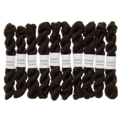 KOKON - Fingering Weight Merino Mini Skein - Night