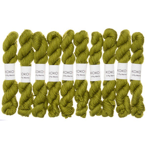 KOKON - Fingering Weight Merino Mini Skein - Cacti