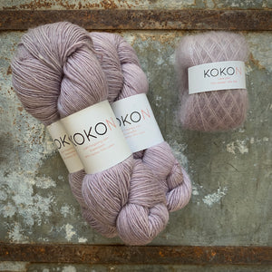 Crystalline Shawl Yarn Kit - Large - Kokon Merino Linen Mineral V and Kokon Kidsilk Mohair Mineral V