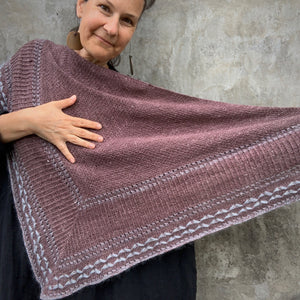 Crystalline Shawl Pattern by GK KNIT - Hard Copy and PDF version