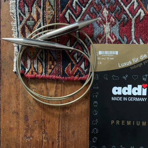 Addi Circular Knitting Needle - 15mm / US 19 - 150cm / 59""
