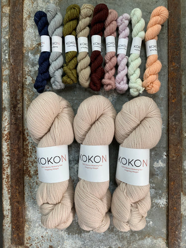 Elvan Shawl Yarn Kit - Five