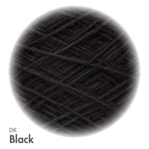 MoYa 100% Cotton DK - 50gram ball  - Black