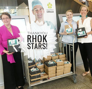 The Big Hug Box delivers 40 RHoK Boxes to Chris O'Brien Lifehouse