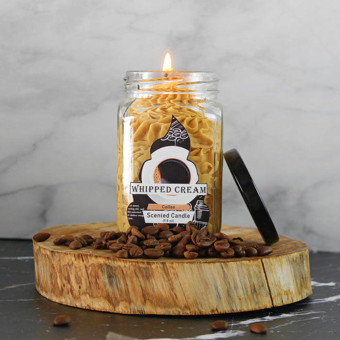 Coffee Whipped Cream Brown candle