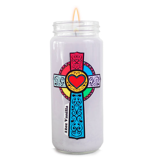 Vanilla Religious Prayer Candle