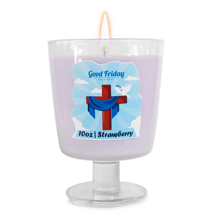 Strawberry Religious Prayer Candle