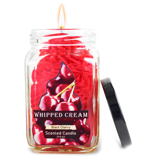 Black Cherry Whipped Cream Red candle