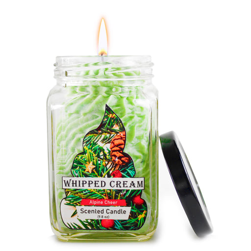 Alpine Cheer Whipped Cream green candle