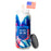 American pride candle: red white & blue tall jar candle with lid