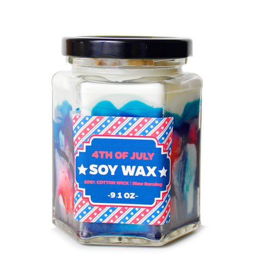 Red White Blue: 9.1 oz 4th of July jar candle