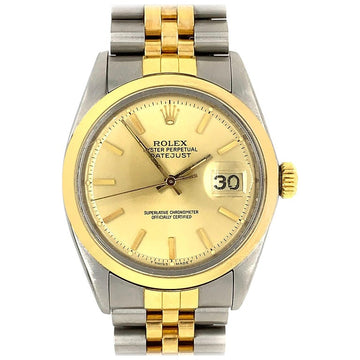 18 Karat Yellow Gold Sterling Steel Rolex Watch