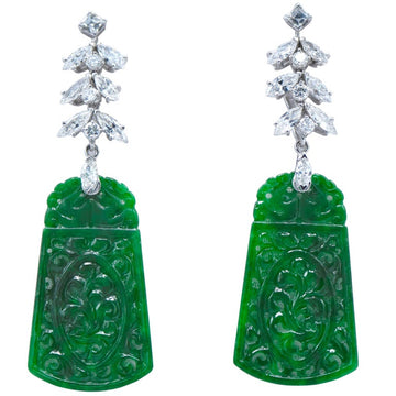 Day/Night Jade Earrings
