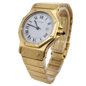 Cartier Santos Octagon 18 Karat Yellow Gold Automatic Women's Watch