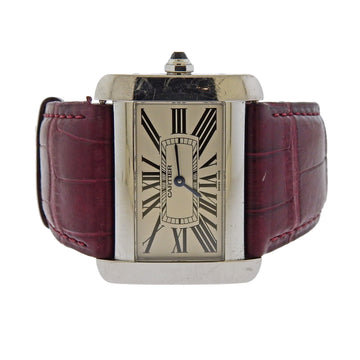 Cartier Tank Divan Stainless Steel Unisex Wristwatch