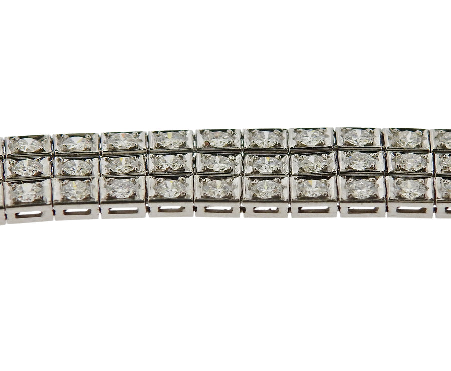 6 Carat Diamond Gold Bracelet